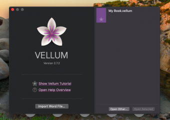 Increase your writing and editing ability in Vellum